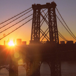 warm travel bridge orange interesting