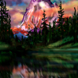 dcmountains drawing artwork colorful nature