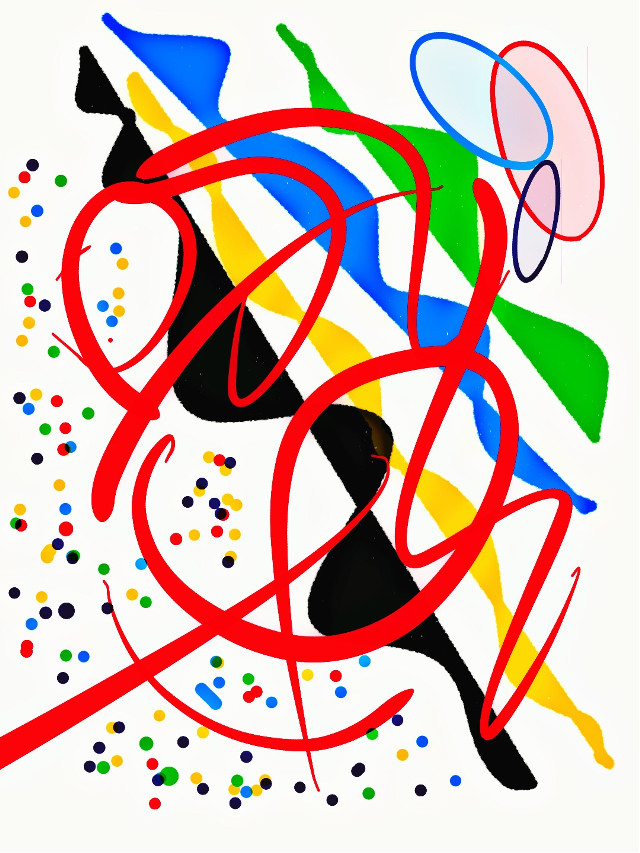 PRIMARY LINES: #art #drawing #abstractart #brushes #calligraphy #expression