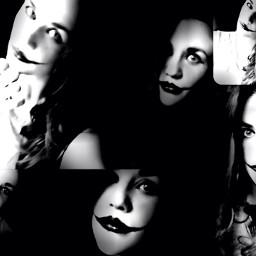 collage black selfies creepy