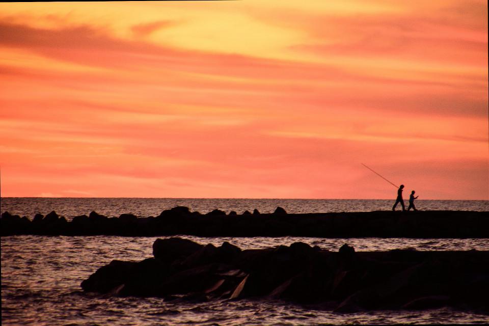 Después de la pesca #beach #colorful #nature #sunset #photography