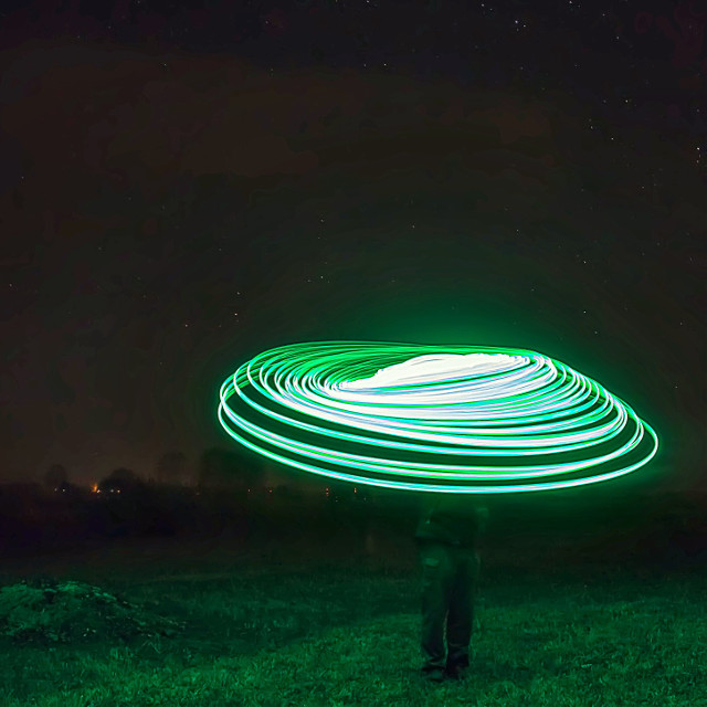 Space Cowboy.  #light_painting #longexposure #photo #lightpainting #art #nightlights #night #tv_longexposure #lightjunkies #slowshutter #nightshot #nocturnal_junkies #canon #nightimages #pic_groups #ic_longexpo #canoncollective #nightphoto #nightphotography #night_shooterz #LED #green #ig_nightphotography #lpwalliance #longexposurephotography #long_exposure #nightscape  #lightpaintingphotography #LongExpoElite