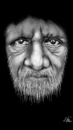 wdpeyes drawing art blackandwhite oldman