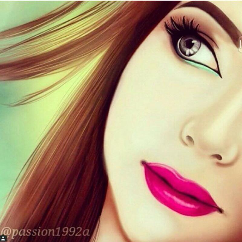 عکس نقاشی فانتزی دخترانه