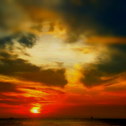 sunset beach love emotions colorful