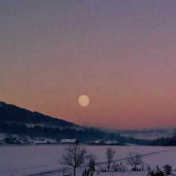 moon light moonlight winter nature