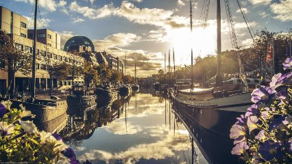 netherlands cityscape leeuwarden sunrise dodger