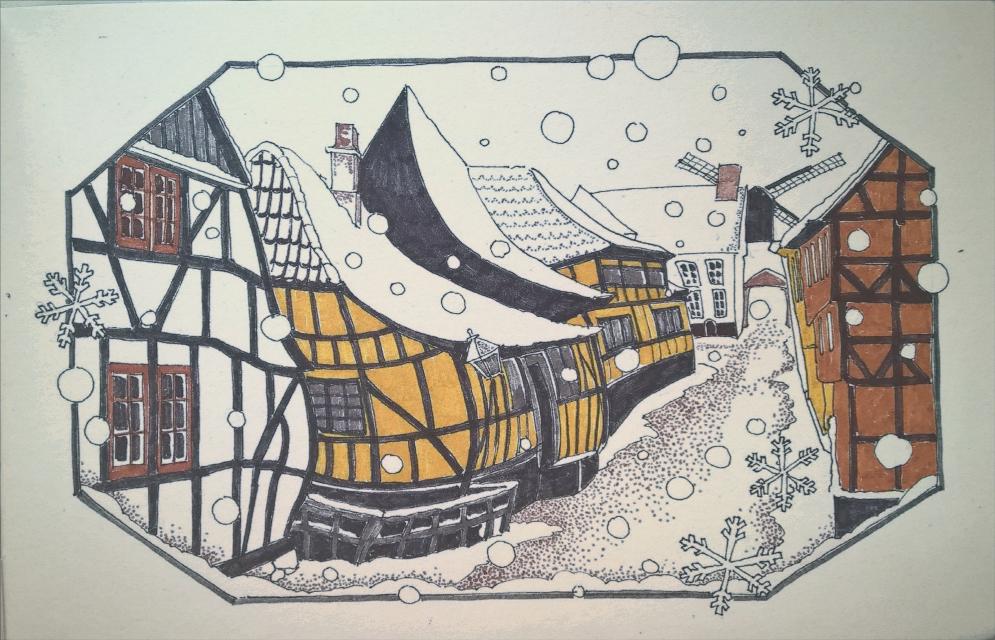Once in old Denmark #sketch #sketchbook #art #drawing #ink #graphic