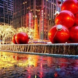 newyork radiocitymusichall rainynight manhattan reflection