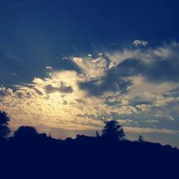 sky clouds winter