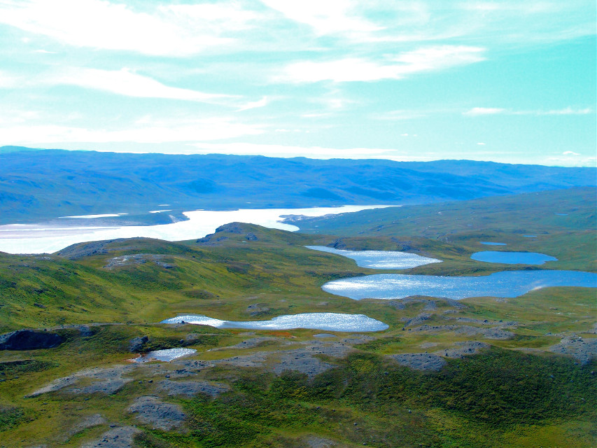 The lakes on top in #Kangerlussuaq #Greenland #Travel