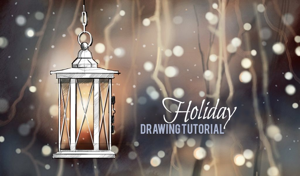 Step by step holiday drawing