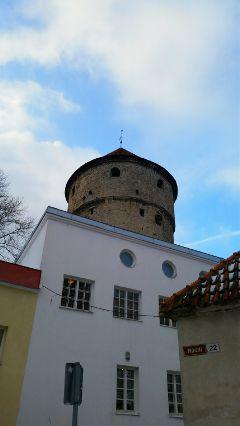tallinn architecture winter tower
