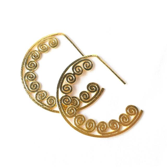 #earrings #spirals