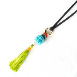 necklace color mix tassel