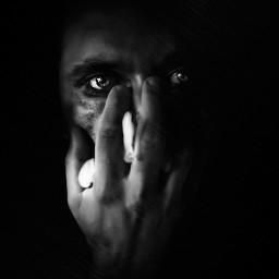 blackandwhite bokeh photography portrait eyes