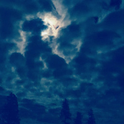 nature sky clouds moon