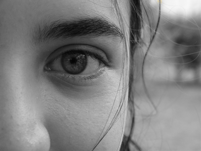 The eyes are the point where body and soul are mixed #blackandwhite