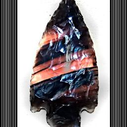 stripes arrowhead obsidian