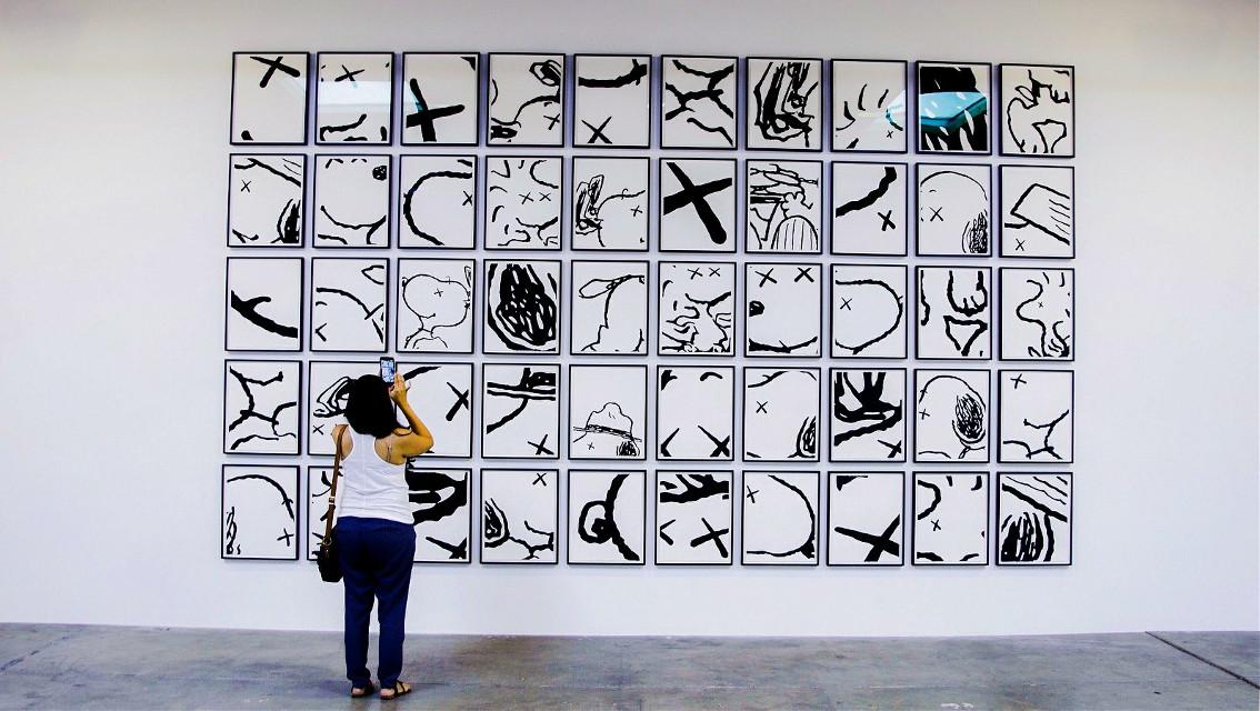 "At Corey Helford #gallery #kaws #art #photography #snoopy ""Man's Best Friend"""