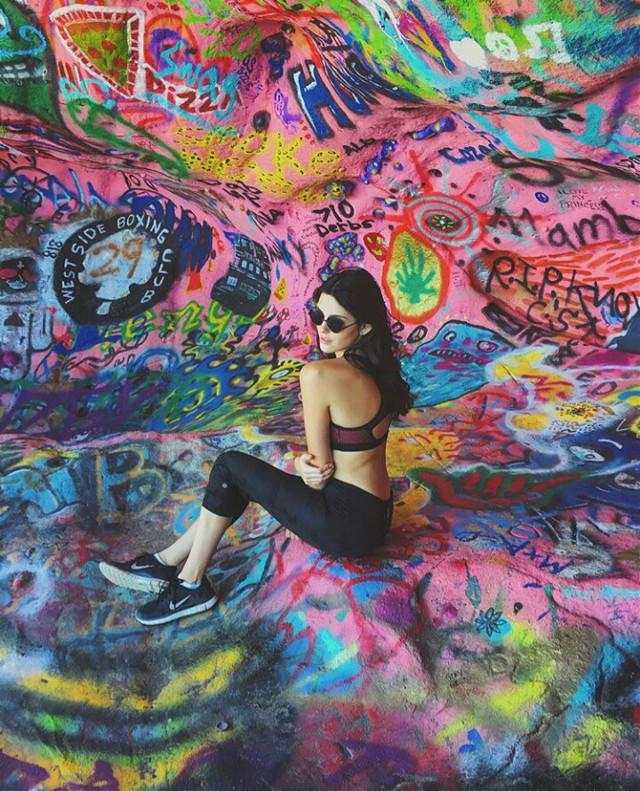 brb in rainbow graffiti land 😜🌈🌈🌈