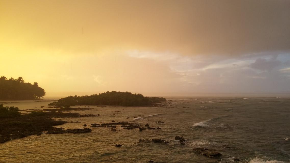 Rainy sunset at Cloud 9  #siargaoisland #philippines  #nofilter