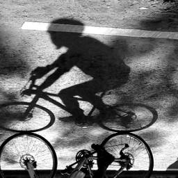 shadow people bicycleride blackandwhite bnw_captures