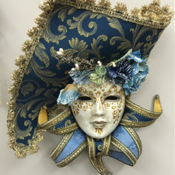 masks italy venice blue freetoedit
