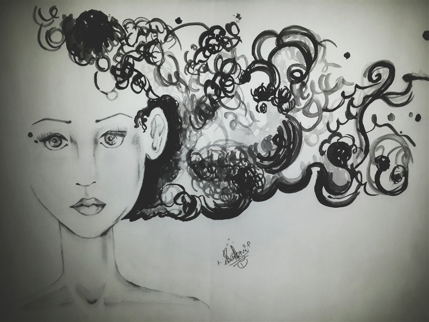 Done by me... #sketch #pencilart #photography #blackandwhite #face #dreamer :) :)