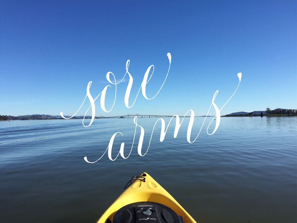 The result of yesterday's kayaking adventures: sore arms. #calligraphy #madewithpicsart
