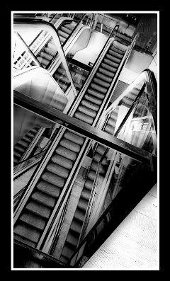 blackandwhite stairway hdr photography retro