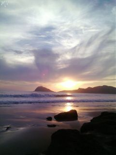 beach nature sunset mexico unique