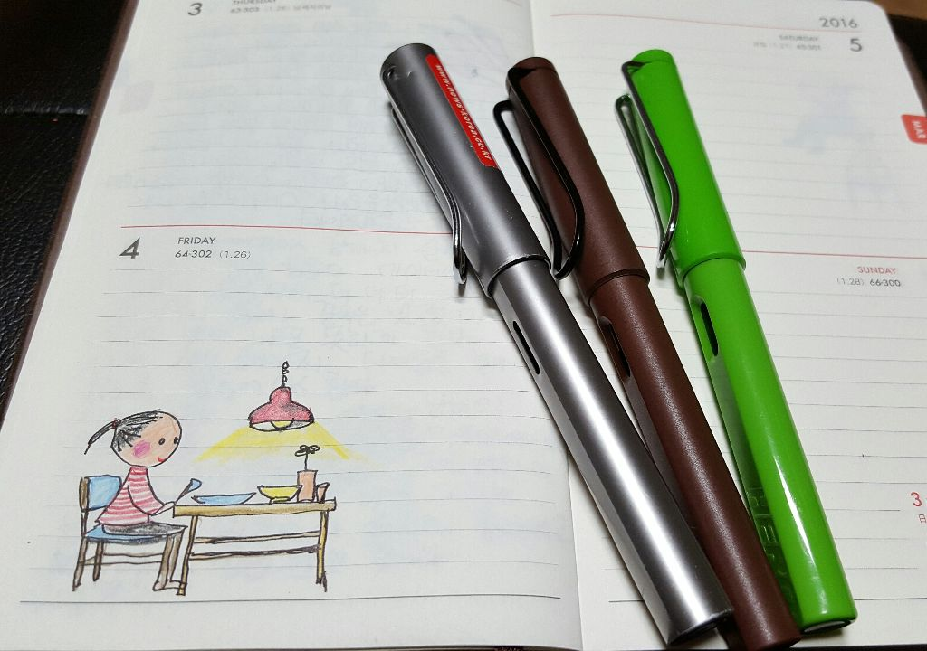 기다리고 있던 라미 브라운 만년필이 도착 잉크넣고 바로 쓱쓱 좋다 기분 최고 #만년필  #그림  #스케치  #LAMYSAFARI #LAMY #FOUNTAINPEN