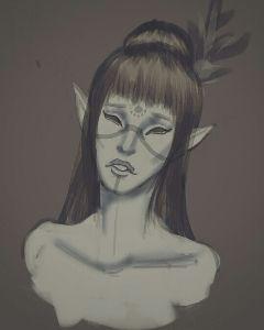 drawing elderscrolls darkelf dunmer skyrim