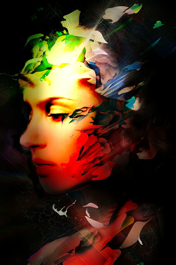 #AlbertoSeveso inspired  Reine-haru stock portrait pic  #albertosevesotexture #glow #orton #portrait #artistic