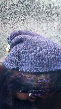 wappurplehue hat girl