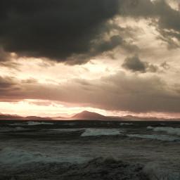 beach water waves sunset sunrise