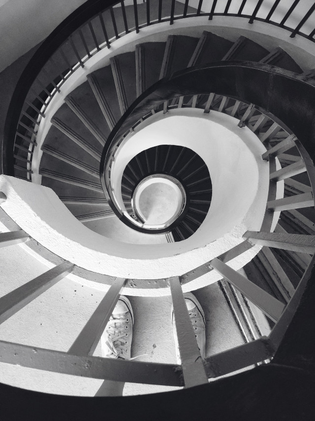 Spiral down #photography #staircase #black&white