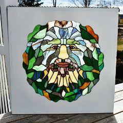 wppstainedglass myart greenman stainedglass glass