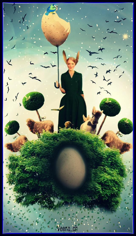 #wapdecorateeggs #eggs #bunny #sheep #trees #lady #madewithpicsart