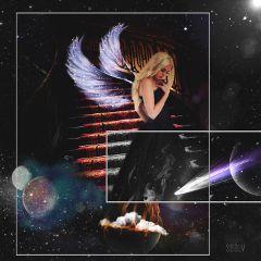 wapwalkonstars edited wings stars surreal
