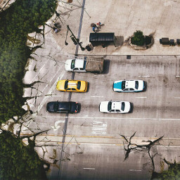 freetoedit urban road destruction cars city trees forest woods small