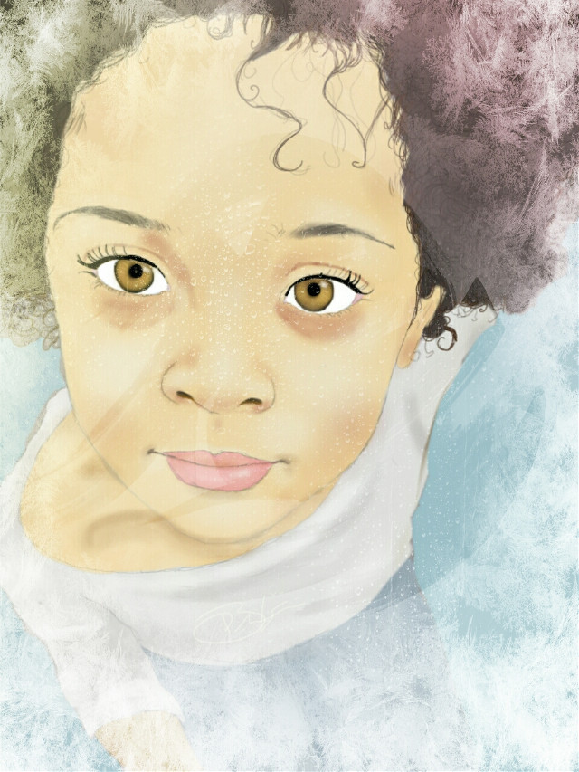 Edit of previous picture #cute #colorful #portrait #drawing #emotions