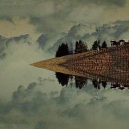 mirror mirrored edgeoftheworld landscape surreal