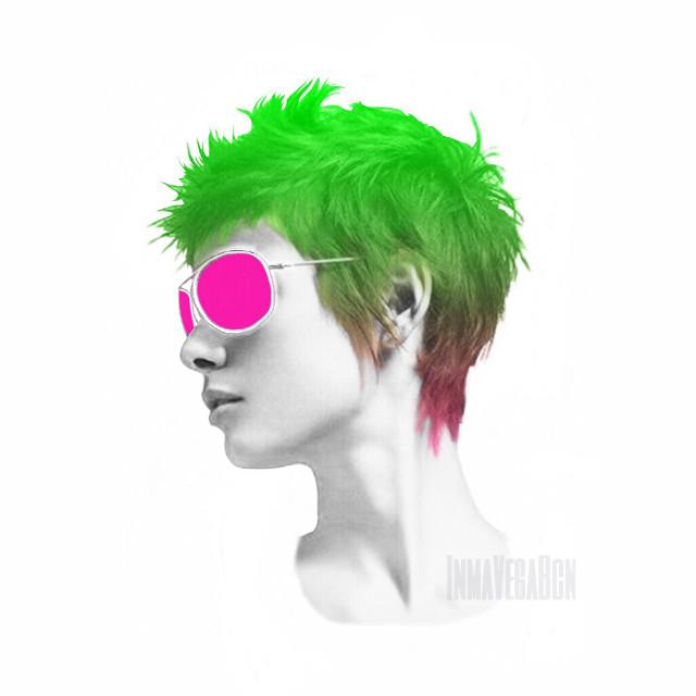 Colours: fluo #collages #collageart #digitalart #colours #portrait