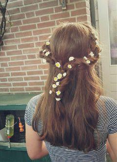 summer flower cute colorful braid