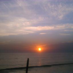 sunset sea summer nature freetoedit