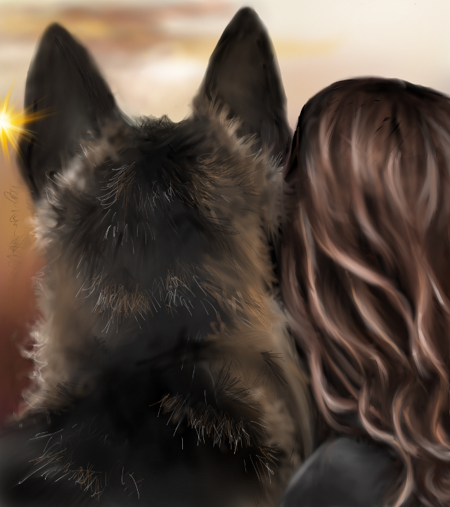 Everyone has a Guardian Angel. The Lucky Ones have a German Shepherd!  #digitaldrawing  #germanshepherd  #petsandanimals